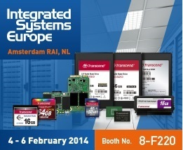Transcend to launch its advanced industrial solutions at Integrated Systems Europe 2014 2
