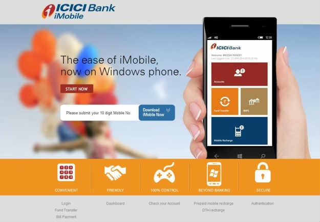 ICICI Bank launches iMobile application for Windows 1