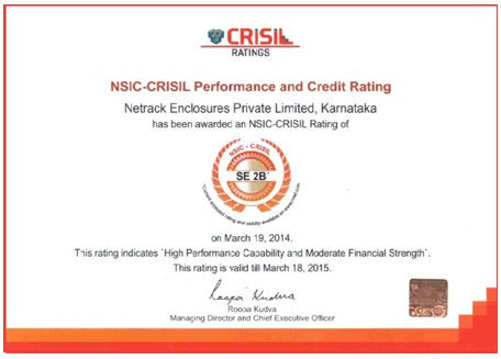NetRack achieves SE 2B rating from NSIC CRISIL 1