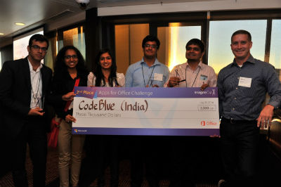 Indian team CodeBlue wins second place in 'Apps for Office' Challenge at Imagine Cup 2014 worldwide finals 2