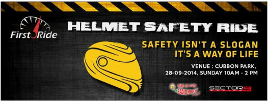 FirstRide.in promotes safety on road with a 'Helmet Safety Ride' in Bangalore 1