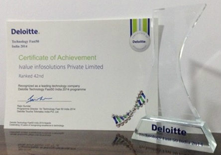 iValue InfoSolutions amongst Fastest Growing Technology Company on the Deloitte Technology Fast 50 India 2014 3