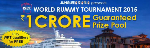 JungleeRummy.com presents the World Rummy Tournament 2015 with a guaranteed prize pool of Rs.1 crore 2