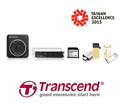 Transcend's Car Video Recorder and Apple Solutions Win Taiwan Excellence Award 2015 2