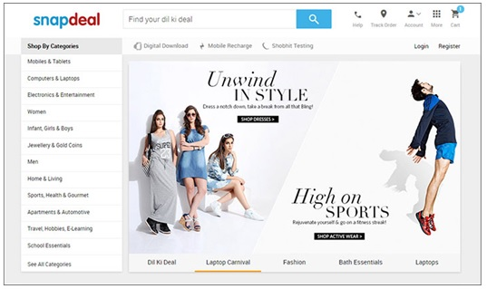 Snapdeal changes its website and App look to refresh the user experience 3