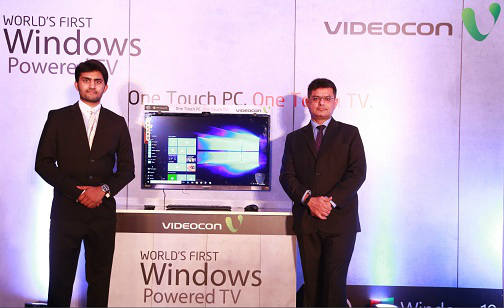 Videocon and Microsoft launch Windows 10 Powered TV 8