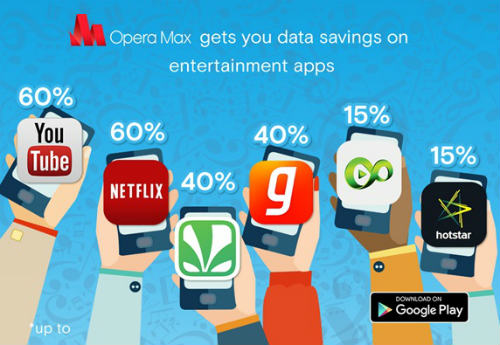 Opera Max gives 60% data savings across entertainment apps 1