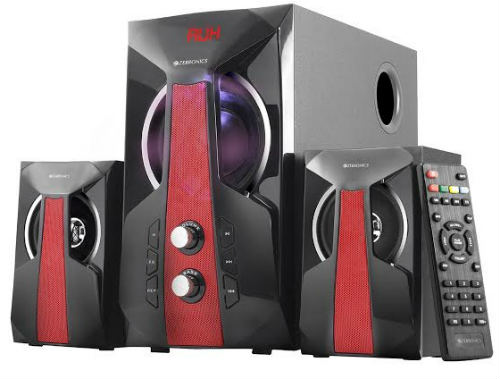 Zebronics launches the MONSTER SOUND 2.1 ZEN Speakers with LED Light Show at Rs. 2323 3