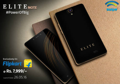 Swipe rolls out its 3GB RAM enabled smartphone Elite Note @ Rs. 7,999 1