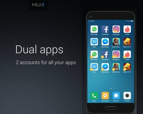 Xiaomi unveils MIUI 8 with Dual apps, Second space