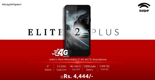Swipe launches its VoLTE enabled smartphone Swipe Elite 2 Plus @ Rs. 4,444 9