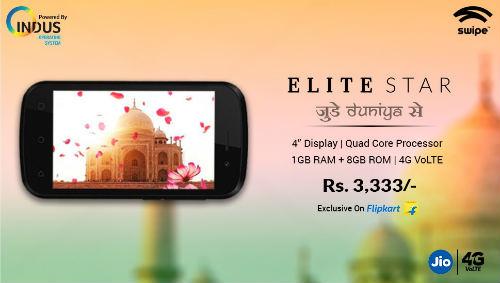 Swipe launches its 4G VoLTE enabled smartphoneElite Star – Judein Duniya Se 8