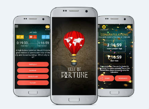 Isle of Fortune: Skill based quizzing game app that allows players to win cash prizes 1