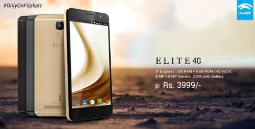 Swipe launches its new smartphone ELITE 4G @ Rs. 3,999/- 4