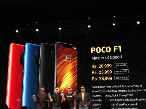 POCO F1  will be available in Mi Homes from 13 October onwards 1
