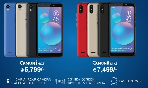 TECNO launches its AI-powered camera smartphone CAMON iACE and CAMON iSKY 2 in India 1