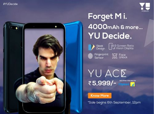 Micromax YU launches YU Ace at Rs. 5,999/-, available at Flipkart 1