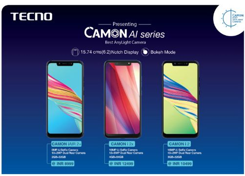 TECNO unveils its new range of AI camera-centric smartphones with notch display 1