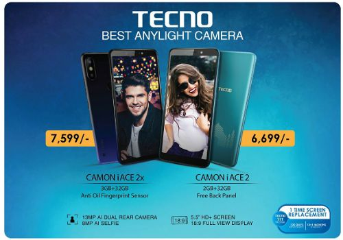 """TECNO rolls out its new smartphone """"CAMON iACE2X"""" with 8MP AI Selfie Camera 1"""