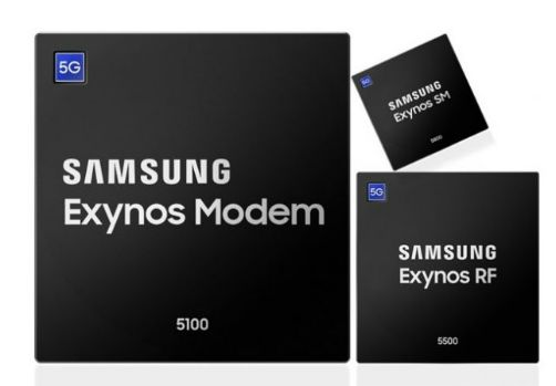 Samsung's 5G modem and RF chips are currently in mass production for the latest premium mobile devices 1