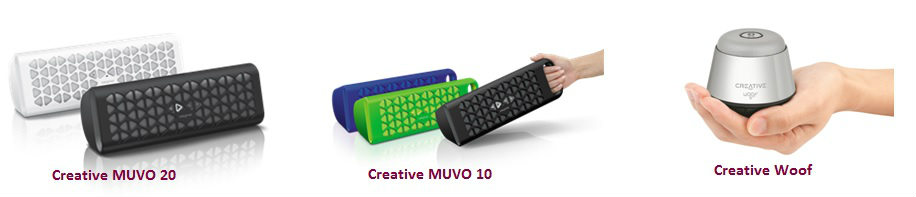 Creative Technology launches Muvo 10, Muvo 20 and Woof ultraportable speakers 1