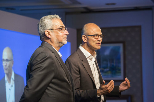 Speech of Microsoft CEO Satya Nadella on commercial cloud services – Azure and Office 365 4