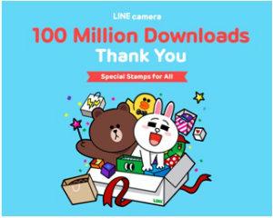LINE-official-camera-app,-LINE-camera-surpassed-100-Million-Global-downloads