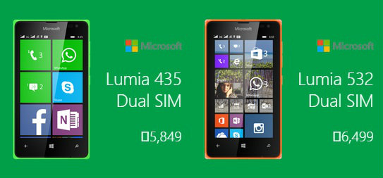 Microsoft Lumia 435 and Lumia 532, The Information