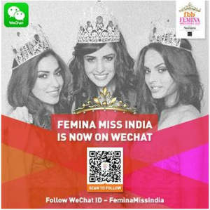 Users Can Now Vote for Their Favourite fbb Femina Miss India 2015 Contestant on WeChat and Get a Chance to Meet the Winner 2
