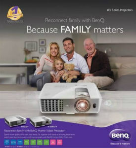 BenQ's launches its campaign 'Reconnect with your family with BenQ Home Video Projectors' 3