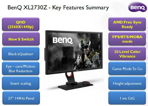 BenQ rolls out Gaming Monitors XL2430T & XL2730Z 1