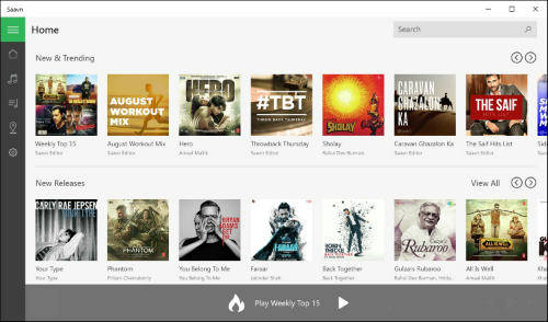 Saavn app is now available for Windows 10 1