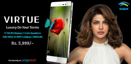 Swipe Technologies launches its metal frame smartphone - Virtue @ Rs. 5999 5