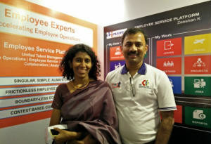 """""""We are the only ones focused on building Employee-centric digital operations""""- Employee Experts Co-Founders Mr. Srinivasulu Mallampooty and Mrs. Maragathavalli Inbamuthiah 2"""