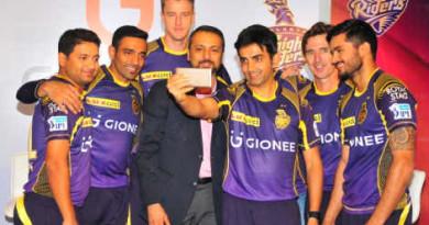 Gionee-global-brand-identity-with-Kolkata-Knight-Riders