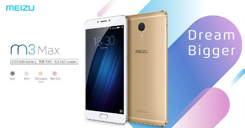 Meizu launched its new smartphone M3 Max 3