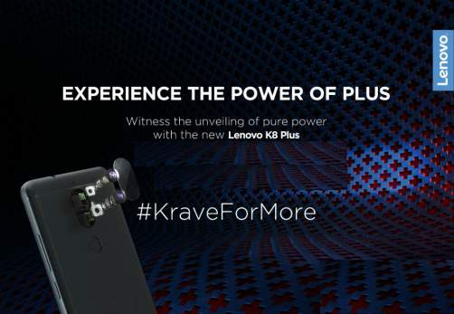 Lenovo K8 Plus to launch in India on September 6 4