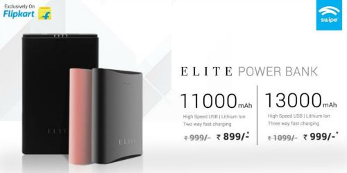 Swipe Launches ELITE Series Power Banks with 13,000 mAh and 11,000 mAh capacity at Rs. 1,099 and Rs. 999 respectively 2