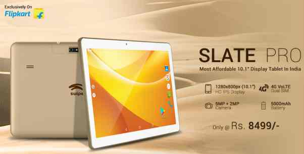 Swipe launches 10.1 inch 4G LTE Tablet with 2 GB RAM and 5000mAh at Rs. 8,499 1