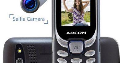 Adcom Selfie Camera Feature Phone