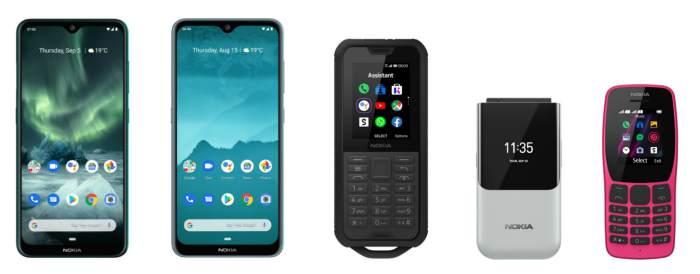 HMD Global five new Nokia phones
